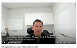 Will Implant Dentures Cure My Periodontal Disease